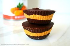 Pumpkin Nut Butter Cups (Raw, Vegan, Gluten-Free, Grain-Free, Dairy-Free, Paleo-Friendly, No-Bake, No Refined Sugars) #justeatrealfood #thehealthyfamilyandhome