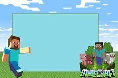 Minecraft - Kit Completo com molduras para convites, rótulos para guloseimas, lembrancinhas e imagens! - Fazendo a Nossa Festa