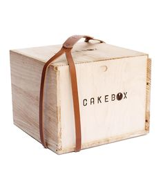 Cake box with leather strap