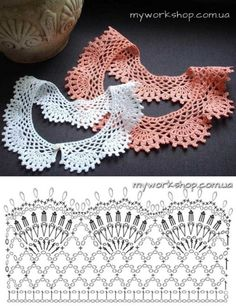 Diy Crafts - VK is the largest European social network with more than 100 million active users. Our goal is to keep old friends, ex-classmates, neighb Crochet Collar Pattern, Col Crochet, Crochet Lace Collar, Crochet Lace Edging, Crochet Stitches Patterns, Crochet Basics, Crochet Shawl, Crochet Doilies, Crochet Flowers