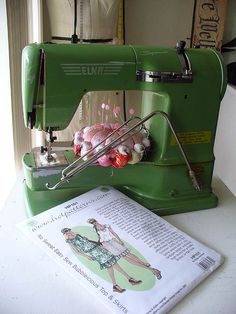 Elna Supermatic! These suckers can plow through 6 layers of flannel without slowing down!