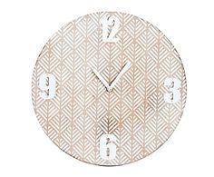 Reloj de pared de madera de paulonia y DM