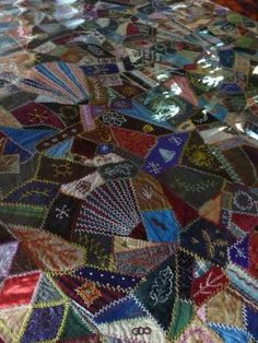 Antique crazy quilt (2) by leticia