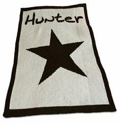 Personalized Star Stroller Blanket