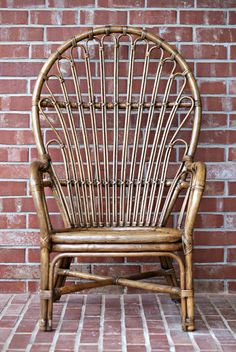 Dimples and Tangles: Rattan Chair  Thrift store find