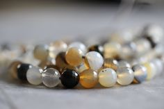8mm Montana Agate, White, Grey, Brown, Earthy, Faceted, Round, Beads, Full Strand, Round Beads, Full Strand, 14 inch, wholesale, supplies by StoneCreekSurplus on Etsy