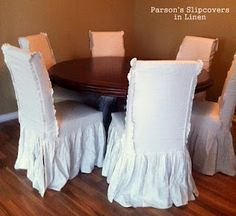 1000 images about shabby chair covers on pinterest chair covers slipcovers and chairs - Shabby chic dining room chair covers ...