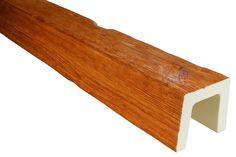 Hexim Dekorbalken ED106 Deco Wood Montage, Deco, Wood, Exposed Beams, Architectural Materials, Pipes, Rustic, Interior Designing, Living Room