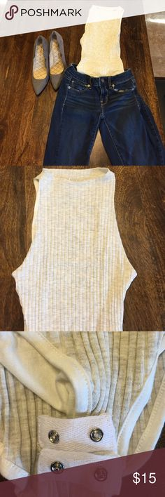 Cream bodysuit Super adorable body suit.  Cream in color.  Never has the guts to wear it outside my house but looks greats. Tops Tank Tops