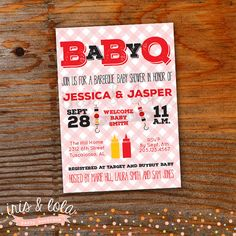 Baby Q Shower Printable Digital Invitation by IrisandLolaParty