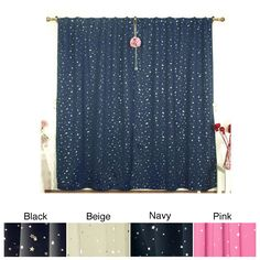 Bring the evening sky indoors with these patterned thermal blackout curtains. Available in four star-printed colors, these curtains block out the bright morning light so you can sleep as late as you want while helping to keep out extreme heat or cold.