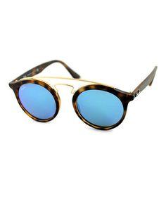 Look what I found on #zulily! Tortoise & Gold Gatsby Sunglasses #zulilyfinds