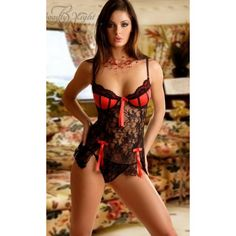 Black-Red Abigail Babydoll