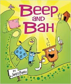 Beep and Bah by James Burks.  A robot who hungers for adventure and a goat who wants to avoid trouble set out to find the missing mate to a single sock.