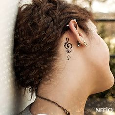 Small music note feminine tattoo behind ear. Find and save ideas about Small music note feminine tattoo behind ear on Tattoos Book. More than FREE TATTOOS Music Tattoo Designs, Music Tattoos, Tattoo Designs For Women, Tattoos For Women Small, New Tattoos, Body Art Tattoos, Small Tattoos, Girl Tattoos, Tattoos For Guys