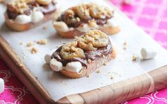 Roasted Banana and Nutella S'mores Bruschetta.