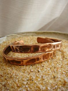 Dented Copper Bangle Set of 2 by sprout1world on Etsy, $20.00