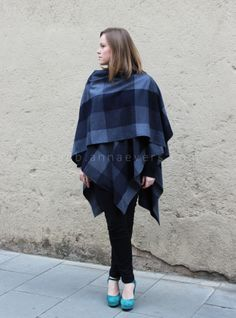 Anna Evers DIY Ruana   It's a kind of a poncho-shawl that we can use over our coats or directly on our clothes to keep warm…