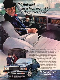 1982 Ford Granada - It finished off with a high regard for the decencies of life - Original Ad