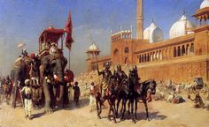 Great Mogul And His Court Returning From The Great Mosque At Delhi, India - Edwin Lord Weeks