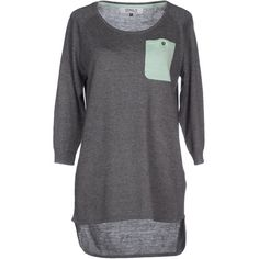 Only Sweater ($24) ❤ liked on Polyvore featuring tops, sweaters, shirts, grey, round collar shirt, 3/4 sleeve shirts, gray sweater, three quarter sleeve tops y three quarter sleeve shirts