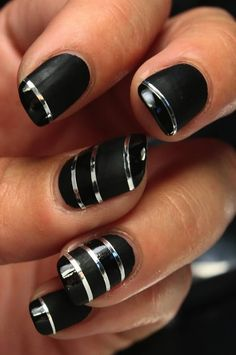 Black nail art helps you get rid of those boring and dull nails. 35 Black Nail Art Designs for Beginners Black Nail Designs, Nail Designs Spring, Beautiful Nail Designs, Acrylic Nail Designs, Easter Nail Designs, Black Acrylic Nails, Black Nail Art, Black Nails, Black Art