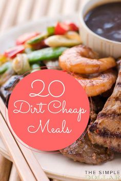 20 Dirt Cheap Meals , these are actually really awesome! - 20 Dirt Cheap Meals , these are actually really awesome! Dirt Cheap Meals, Cheap Easy Meals, Inexpensive Meals, Cheap Dinners, Quick Meals, Cheap Food, Freezer Meals, Healthy Cheap Meals, Cook Meals