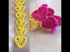 Tuto bracelet, guirlande de coeur au crochet - YouTube