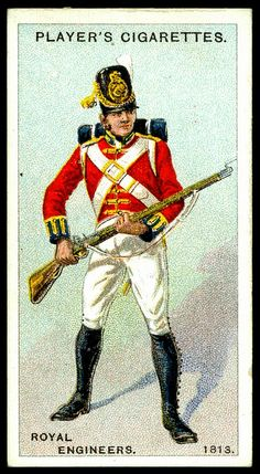 Cigarette Card - Royal Engineers, 1813