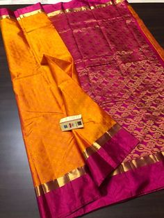 Pure Kancheepuram Silk Saree with Rich Pallu Banarasi Sarees, Silk Sarees, Saris, Lehenga, Traditional Sarees, Traditional Looks, Saree Collection, Bridal Collection, Blouse Patterns
