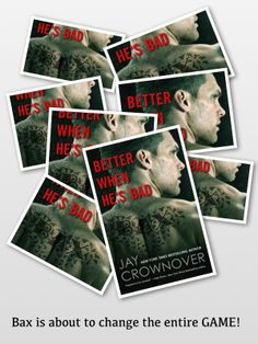 Pinning a collage of Jay Crownover's upcoming book Better When He's Bad (Welcome to the Point
