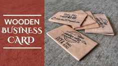 Wooden Business Card (English Subtitles)