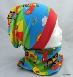 Set Mütze und Halssocke Beanie Indianer Gr. 48-52 von Die Stilerbse auf DaWanda.com