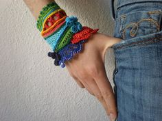 Heliamphora Ceracea  Freeform Crochet Cuff by irregularexpressions, $168.00