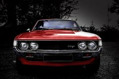 71' Toyota Celica .... My first car!  Purchased in '87, although mine was white