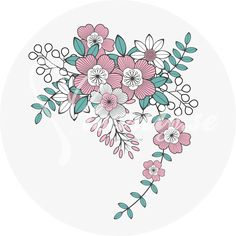 Embroidery Pattern of Heartly.se-Flower-0430-1106 Foreign Language No Translation at heartily.se. jwt