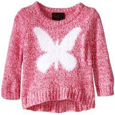 Girls Rule Little Girls' Large Butterfly Intarsia Sweater, Pink, Largest Butterfly, Girls Rules, Polar Fleece, Girls Sweaters, Zip Hoodie, Toddler Girl, Little Girls, Girl Outfits, Men Sweater