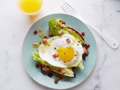 Bacon-and-Egg Breakfast Caesar Salad recipe from Food Network Kitchen via Food Network