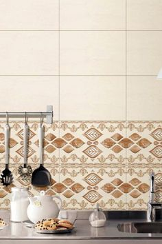 These highlighter ceramic tiles with their stunning digital patterns in soothing colours are excellent as wall tiles for backsplashes in kitchen and even bathrooms. Mix and match them with other tiles to create your own special look! #kitchen #wall #tiles #kitchenideas #tileinspiration