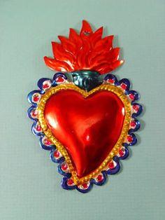 Mexican folk art: tin Sacred Heart