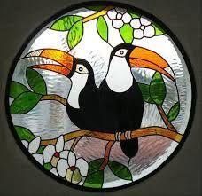 dibujos aves con flores vitral - Buscar con Google
