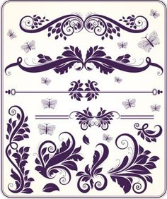 Ornament elements vector | Free Vector Graphics  Art Design Blog