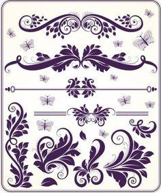 Ornament elements vector | Free Vector Graphics & Art Design Blog
