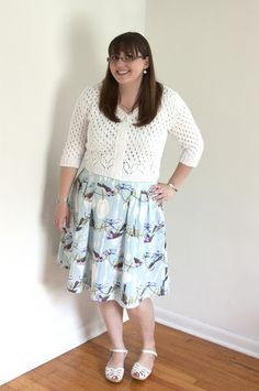 96a7e0011cd Sunshower Cardigan by Andi Satterlund in white cotton by Show and Tell Meg