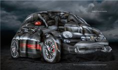 Fiat 500 Body Paint Photo Shoot by Artist Craig Tracy