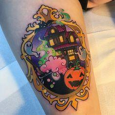Cute Halloween tattoo by SAM WHITEHEAD (@samwhiteheadtattoos)