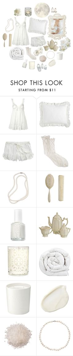 """White Night"" by twinkle-twin ❤ liked on Polyvore featuring Presence, Pier 1 Imports, American Eagle Outfitters, Antipast, Brooks Brothers, Zara, Essie, Tory Burch, Brinkhaus and The White Company"