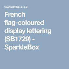 French flag-coloured display lettering (SB1729) - SparkleBox