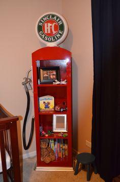 Custom made Gas Pump book shelf. Making one for Gabe's room.