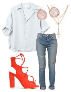 """""""Datenight1"""" by lohan-kbug on Polyvore featuring Yves Saint Laurent and Monica Vinader"""